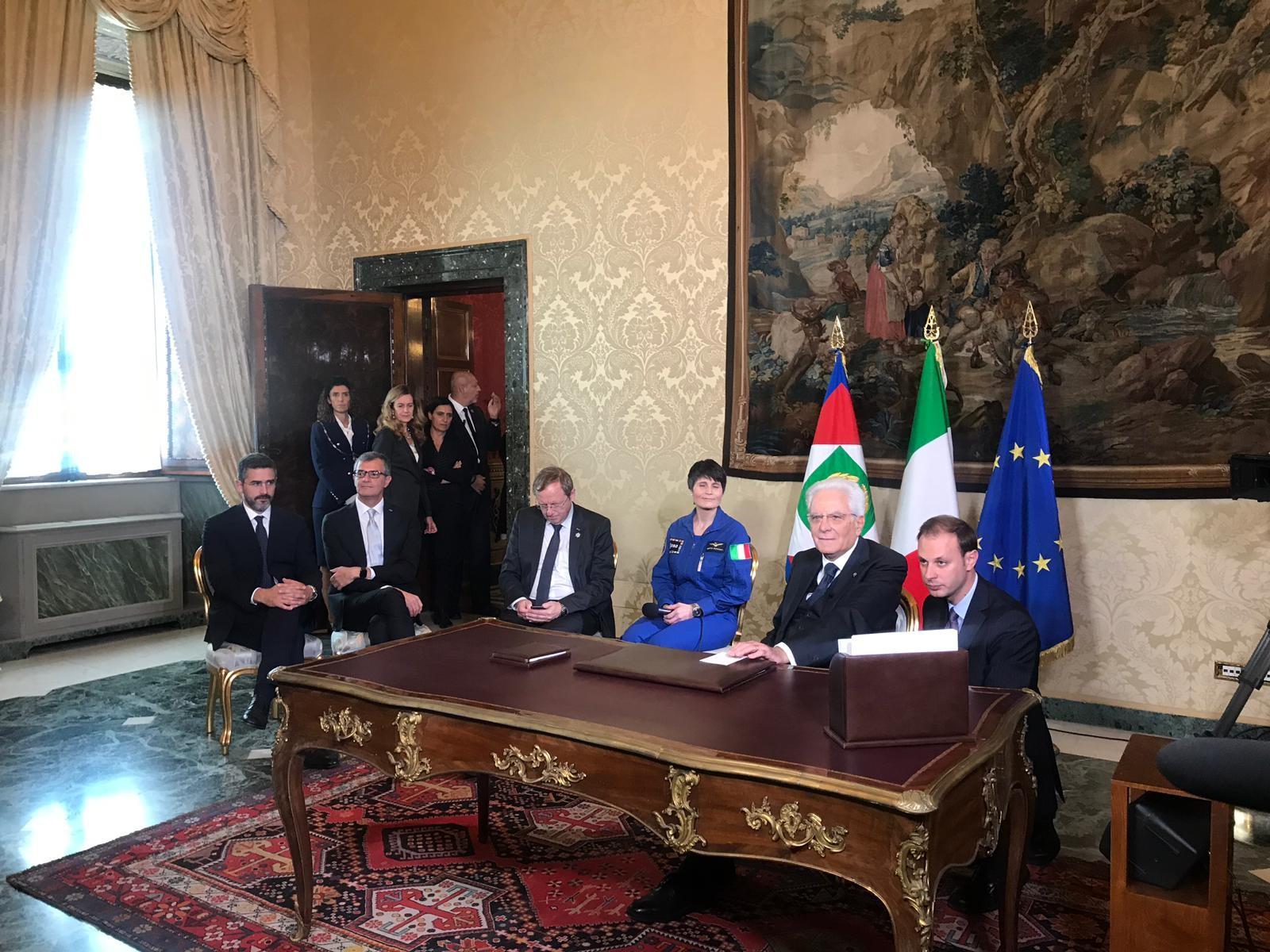 ASI - Parmitano a colloquio con Mattarella