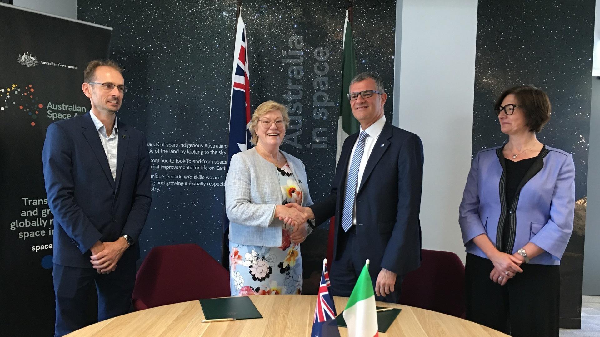 Cooperazione internazionale, firmata una dichiarazione d'intenti tra l'ASI e l'Agenzia Spaziale Australiana