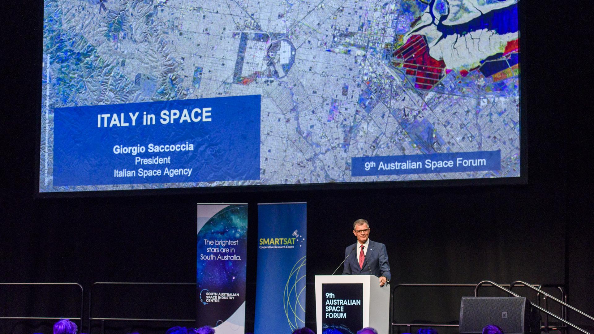 ASI - Al via il 9th Australian Space Forum ad Adelaide con il Presidente dell'ASI, Giorgio Saccoccia