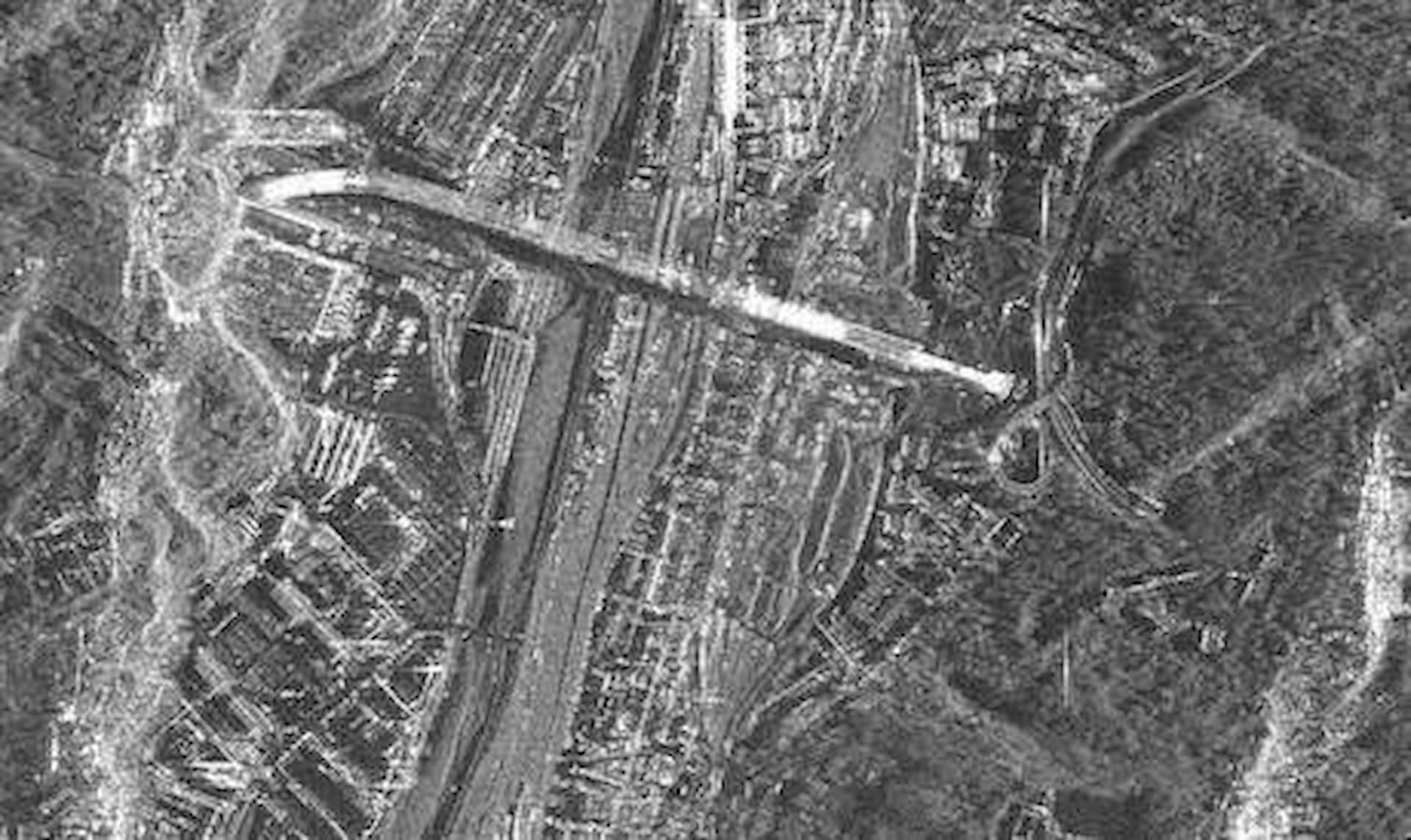 ASI - Il ponte di Genova visto dallo spazio