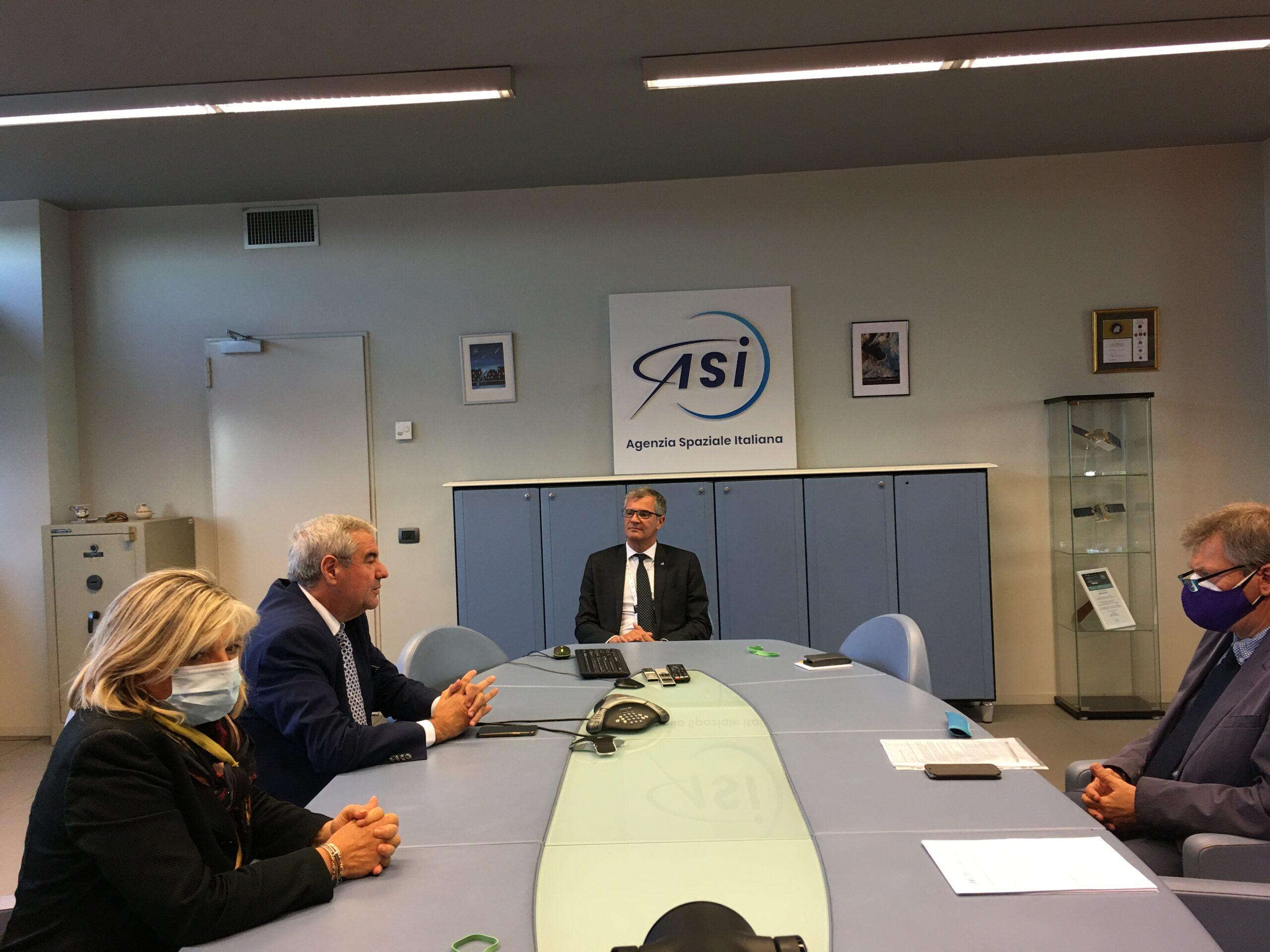 ASI - Visita del Capo del Dipartimento della Protezione Civile Angelo Borrelli in ASI