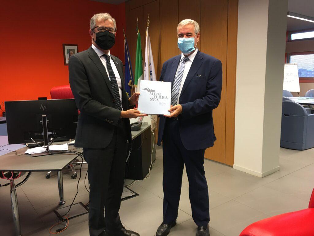 Nell'immagine il Presidente ASI Giorgio Saccoccia e il Capo del Dipartimento della Protezione Civile Angelo Borrelli