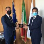 Il sottosegretario alla Difesa, Angelo Tofalo, in visita in ASI