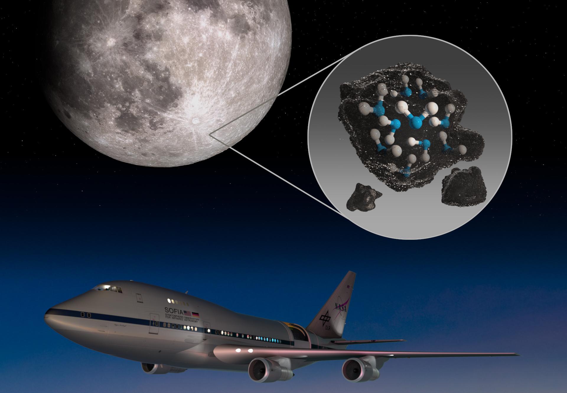 ASI - C'è acqua sul lato visibile Luna