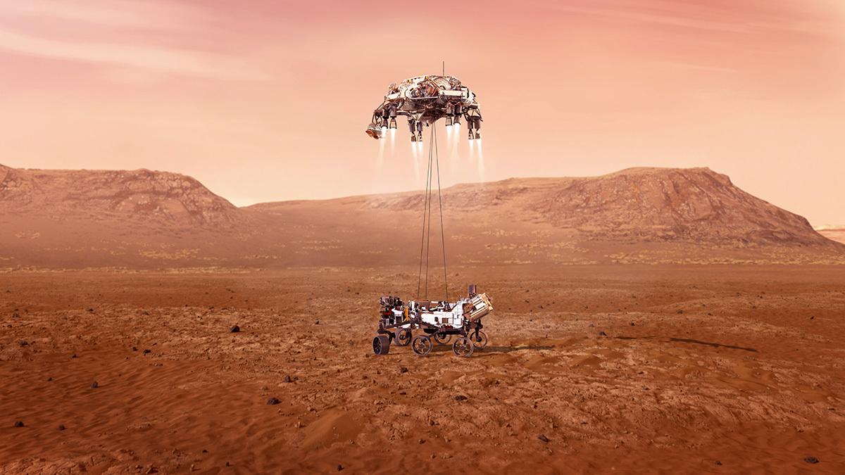 ASI - Perseverance tocca Marte