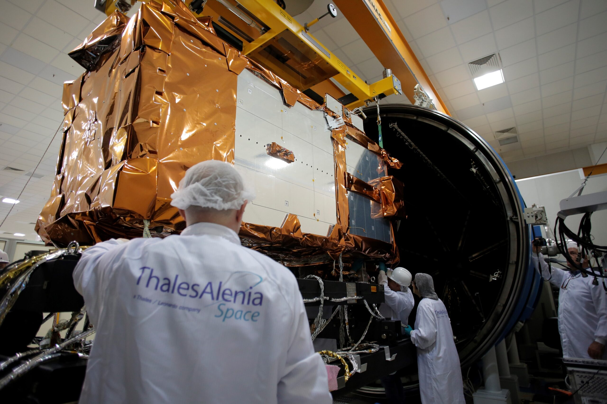 First CSG satellite before launch