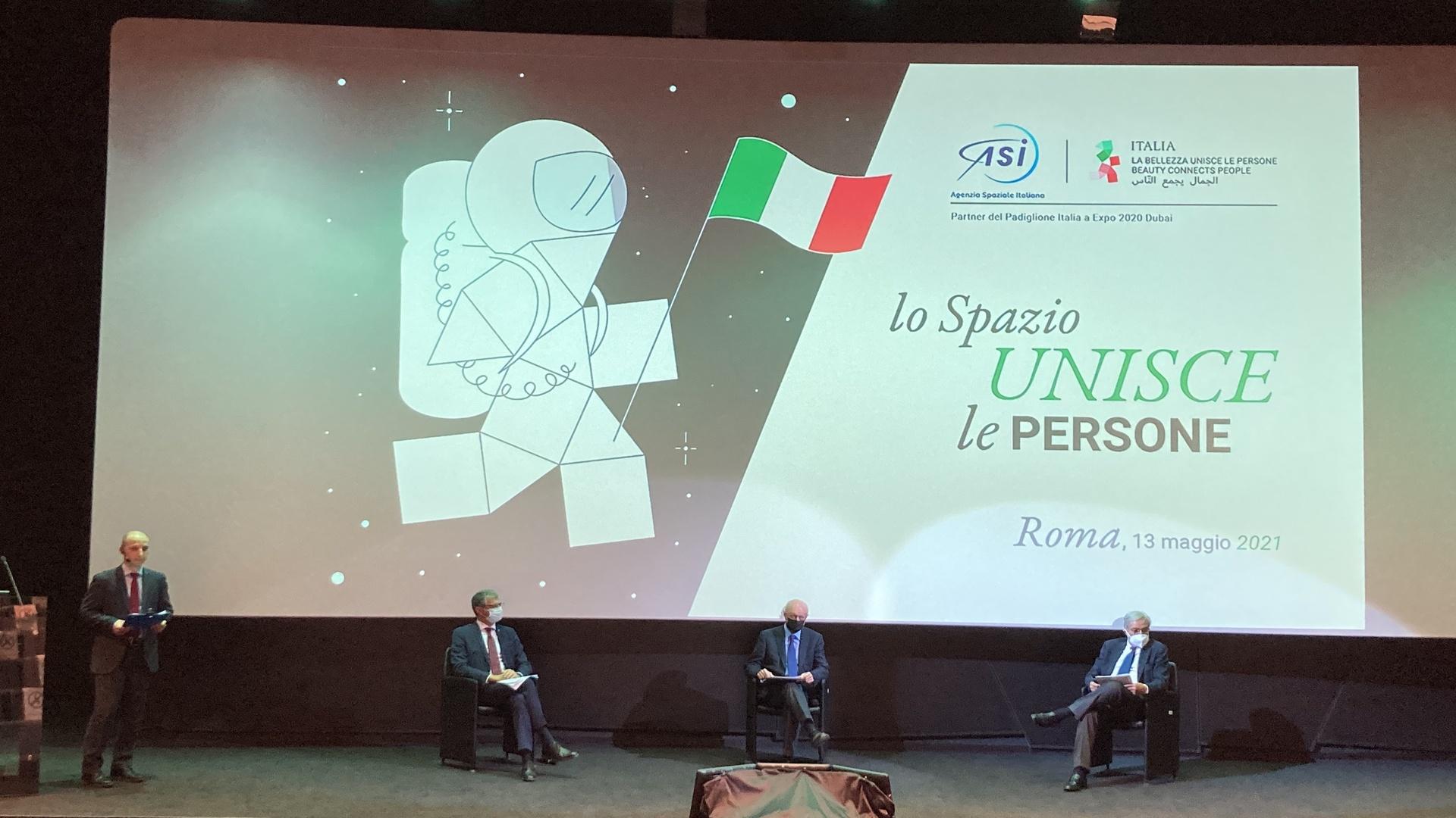 ASI - EXPO 2020 DUBAI: THE MEMORANDUM OF UNDERSTANDING BETWEEN THE ITALIAN PAVILION AND THE ITALIAN SPACE AGENCY HAS BEEN PRESENTED