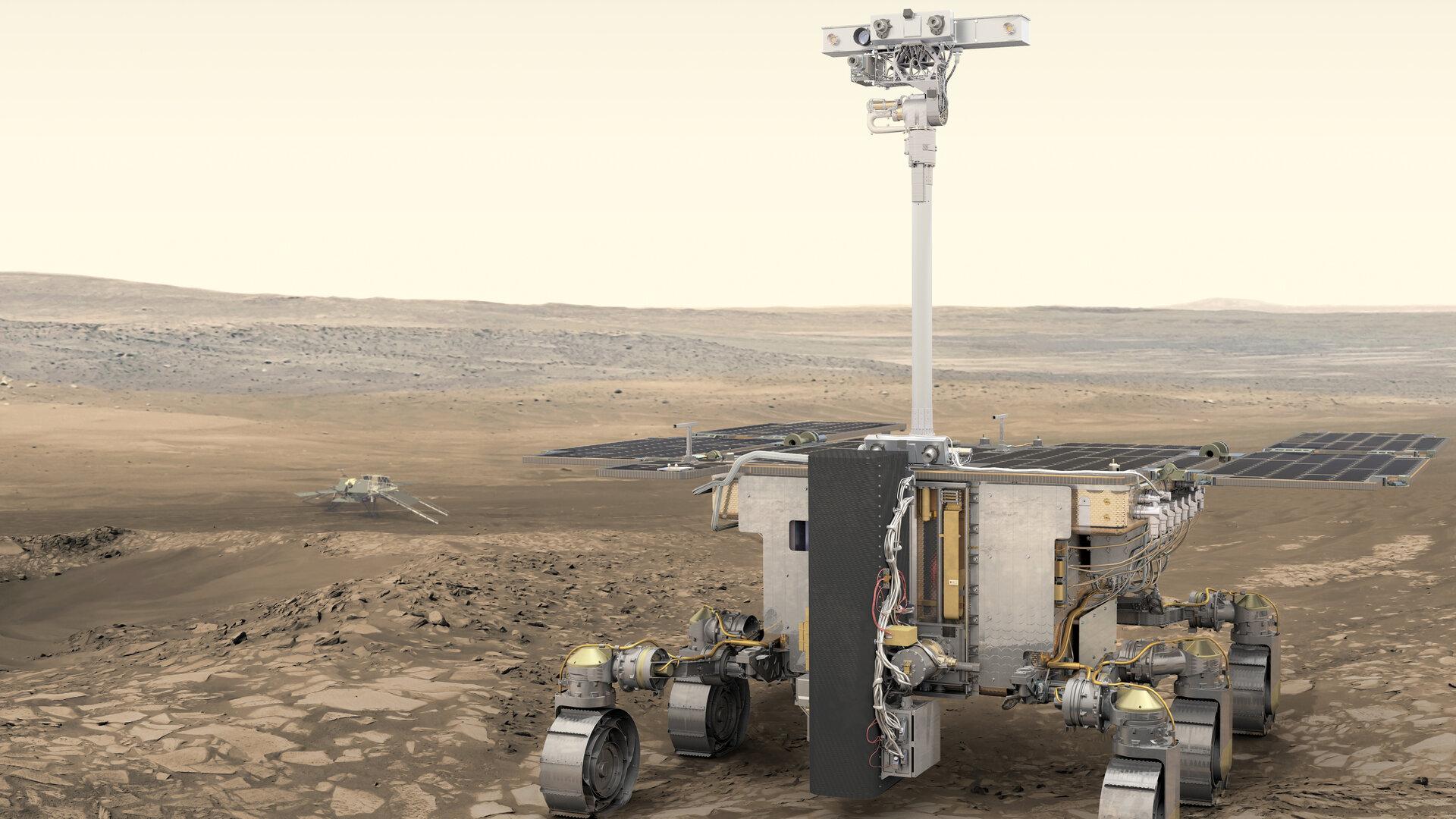 ASI - ExoMars, al via i test del  Rover Ground Test Model in Altec