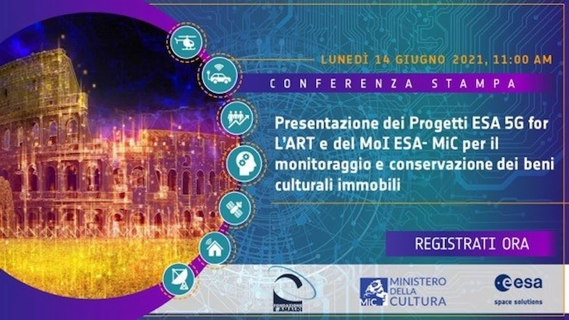 ASI - Conferenza Stampa ESA-Ministero della Cultura-ASI