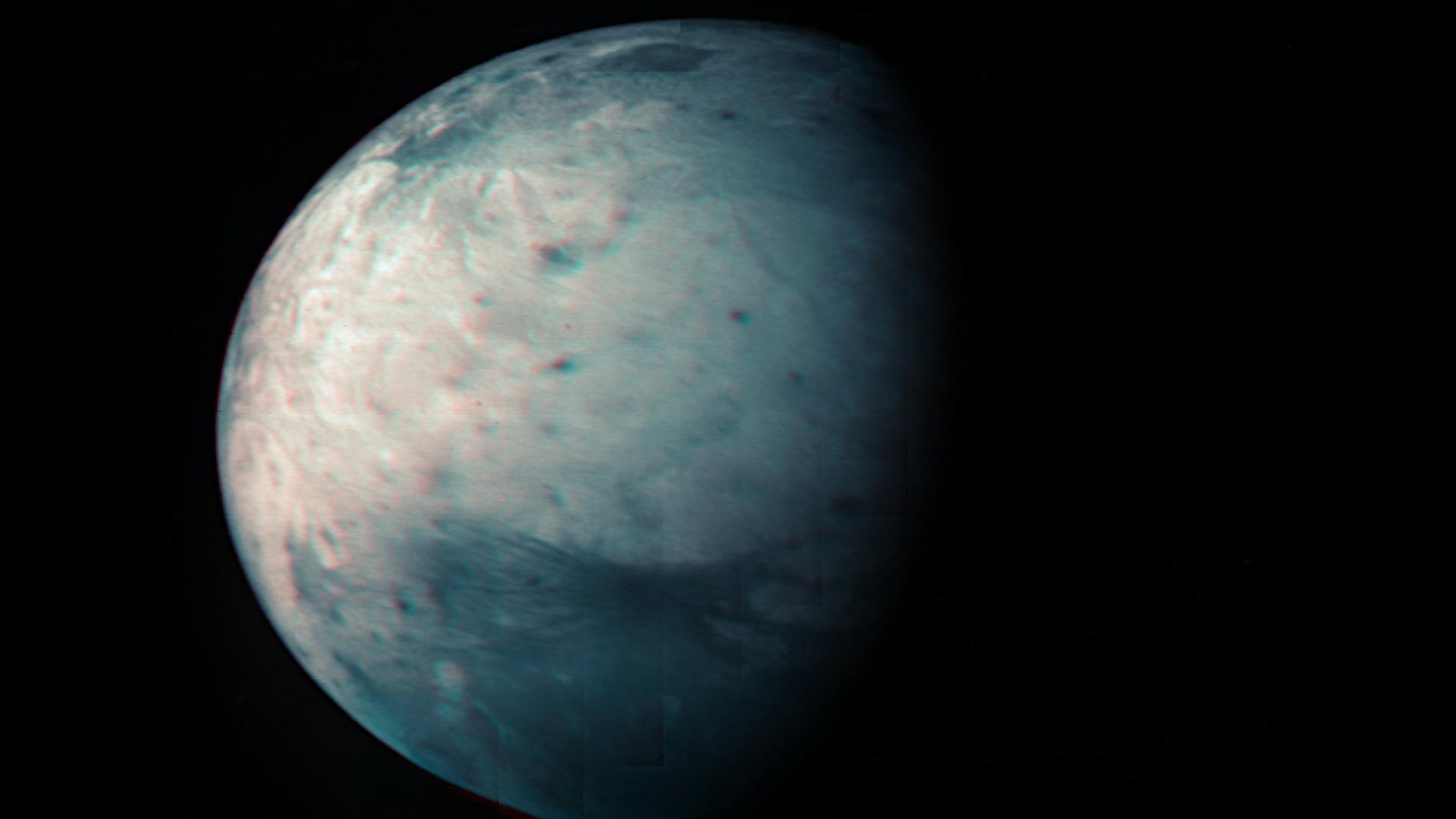 ASI - JIRAM osserva l'emisfero sud di Ganimede